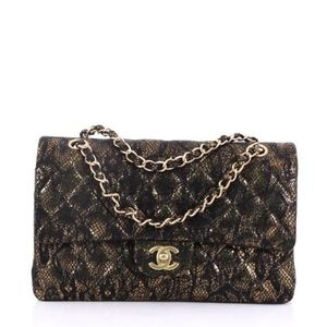 CHANEL Double Quilted Lace Medium Shoulder Bag